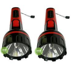 2pcs Matsugi MG-8915B Senter 0.5W LED Rechargeable Torch - Black (Red)