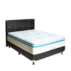 Beli Matto Springbed Sora Plushtop Pillowtop Premium 32 Cm Size 160 X 200 Hb Elegance Full Set Khusus Jabodetabek Biru Cicilan