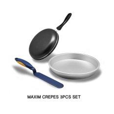 Maxim Crepes Pan Wajan Anti Lengket Set - 3 buah