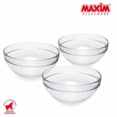 Jual Maxim Glassware Fully Tempered Mangkuk Kaca Mixing Bowl Set 2460 Ml 3 Buah Maxim Branded