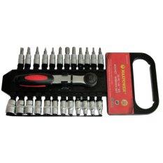 Diskon Maxpower Kunci Socket Wrench 1 4 Set 25 Buah High Quality Akhir Tahun