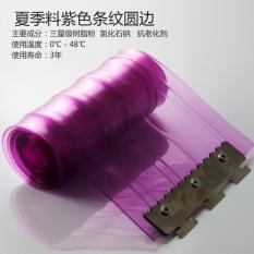 May_zz AC Tirai Kamar Tidur Musim Panas Warna PVC Semi-Transparentoff Angin Isolasi Tirai Tirai Kulit Plastik Tirai Lembut- INTL