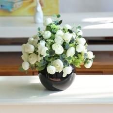 May_zz Mini Kecil Segar Buatan Bunga Sutra Bunga Suit Pernikahan Kamar Living Kamar Sudut Beberapa Kantor Meja Pot Menampilkan Ornamen -Intl