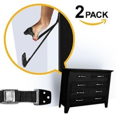 May_zz S TV/Furniture Strap, TV Tugas Berat Tali, Tidak Ada Bagian Plastik, Anti Tip Tahan Gempa Furniture Anchor, Terbaik Jangkar Dinding, TV Anchor untuk Anak-anak, ANAK & Amp; Baby Proof, Black (2 Pack)-Intl