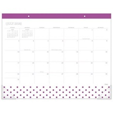 Mead Akademik Tahun Meja Tulis Alas Kalender, Bulanan, Juli 2016-Juni 2017, 21-3/4