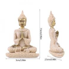 Qianmei Meditasi Duduk Buddha Patung Sandstone Kokoh Dekorasi Amitabha Figurine Furnishing Artikel-Intl
