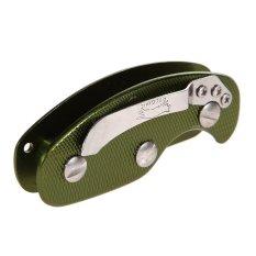 MEGA Aluminum Key Organizer Clip Folder Keyring Case EDC Pocket Tool Green