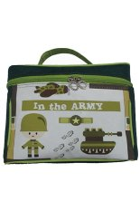 Harga Mega Fancy Insulated Lunch Bag Hijau Tua Army Baru Murah