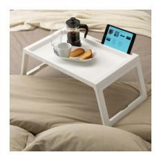 Meja Baki Makan Lipat Tempat Tidur IKEA KLIPSK PUTIH WHITE Nampan