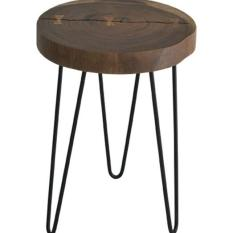 Meja Bulat Natura Freeform Side Table With Ribbon
