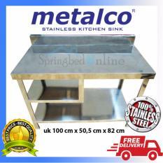 Pusat Jual Beli Meja Dapur Kompor Stainless Steel 1 Rak Serbaguna Metalco Indonesia