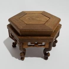 Meja kayu Ukiran (Segi 6)