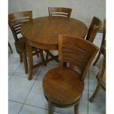 Meja Kursi Makan Kayu Jati Furniture Ukir Jepara Free Ongkir