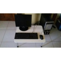Meja Laptop Lipat Besar Putih Serat Kayu