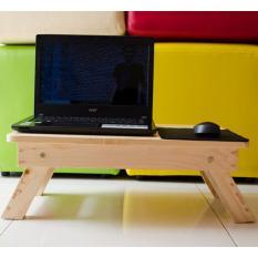 Jual Meja Laptop Lipat Kokoh Kayu Jati Belanda Untuk Lesehan 55X35Cm Import