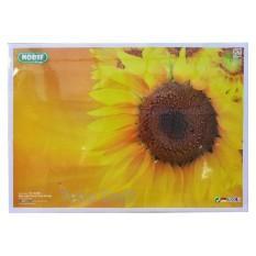 Meja Lipat Kayu Anak Belajar Bergambar Bunga Matahari Tentengan Lomba Gambar Mewarnai