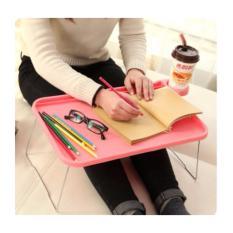 Allunique Meja Lipat Portable - Pink