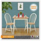 Meja Makan Set 2 Bangku Maple Story Livien Furniture Diskon