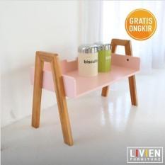 Meja / Rak Susun Suka Suka Pink - Livien Furniture