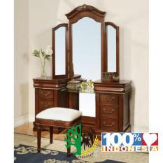 meja rias klasik set kayu