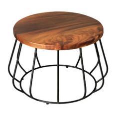 meja tamu coffee table kayu jati besi unik industrial modern