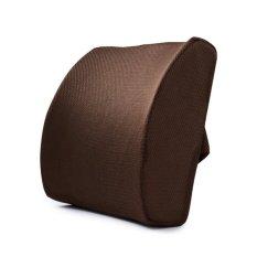 Dukungan Kesehatan bantal busa memori pereda nyeri punggung bawah bantal ortopedi postur (kopi)- International