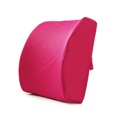 Memory Foam Lumbar Support Cushion Lower Back Pain Relief Postur Ortopedi Bantal (Rose)-Intl