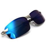 Beli Mode Pria Terpolarisasi Mengemudi Kacamata Hitam Anti Silau Sports Luar Room Kacamata Uv Ice Blue Seken