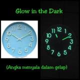 Obral Meridient Jam Dinding Neon Glow Gtd5 Angka Menyala Dalam Gelap Murah