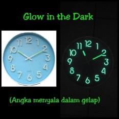 Meridient Jam Dinding Neon Glow Gtd5 Angka Menyala Dalam Gelap Di Dki Jakarta