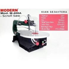 Mesin Scroll saw modern m-400A /mesin gergaji triplek, jigsaw duduk