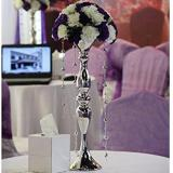 Diskon 38 Cm Metal Candle Holder Candle Stand Wedding Centerpiece Event Road Lead Flower Rack Silver Intl Tiongkok