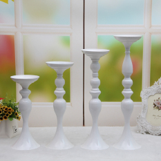 Spek 50 Cm Metal Candle Holder Candle Stand Wedding Centerpiece Event Road Lead Flower Rack White Intl
