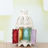 Spek Logam Glass Hollow Hanging Table Light Candle Holder Pernikahan Lentera Rumah Dekorasi Intl Tiongkok