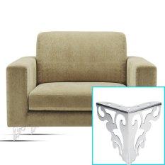 Metal Polished Sofa Legs Hollow Cabinet Feet Furniture Accessories 12cm - intl