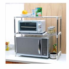 Microwave Oven Stainless Steel Rak Penyimpanan Dapur