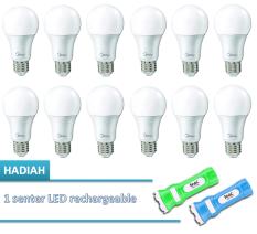 Midea LED Bulb 10W E27 - Putih- 12 Buah + Free Senter LED IMAC