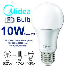 Midea LED Bulb 10W E27 - Putih - 8 Buah