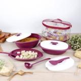 Spesifikasi Millenium Serving Set Kotak Makanan Wadah Tempat Sayur Set Mangkok Mangkuk Piring Centong Yang Bagus