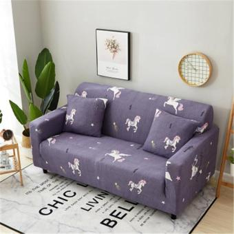 Mimosifolia 2 seater kulit asli orang kontinental sarung sofa penutup All Inclusive penutup penuh sofa bantal