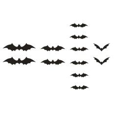 Mingjue 12 Pcs/set 3D Bat Wall Stiker Fantasi PVC Wall Sticker Dekorasi Halloween-Intl