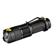 Mini 3-Mode Adjustable Zoom Light Lamp Aluminium Alloy Retractable Jarak Jauh LED Senter Obor