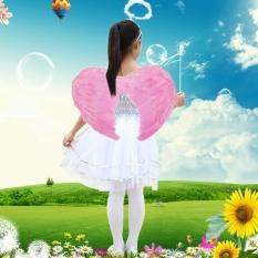 Mini Angel Sayap Bulu Foto Prop Stage Show Halloween Kostum Wedding Perlengkapan Pesta, Ukuran: 45x35 Cm, Tinggi Yang Disarankan: 70-110 Cm (Pink)-Intl
