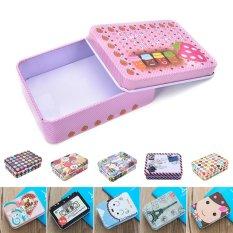 Mini Indah Teh Kotak Penyimpanan Wadah Timah Happy-Intl