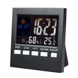 Beli Mini Digital Besar Warna Lampu Latar Layar Lcd Cuaca Yang Diaktifkan Suara Display Clock Thermometer Hygrometer Kalender Jam Alarm Dengan Kartu Kredit