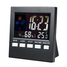 Dimana Beli Mini Digital Besar Warna Lampu Latar Layar Lcd Cuaca Yang Diaktifkan Suara Display Clock Thermometer Hygrometer Kalender Jam Alarm Thinch
