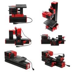 Mini DIY 6 In 1 Multi-fungsional Bermotor Transformer Serbaguna Mesin Jigsaw Grinder Driller Plastik Mesin Bubut Logam Mesin Bubut Kayu Pengeboran Pengamplasan Turning Penggilingan Penggergajian Mesin Alat Kit-Internasional