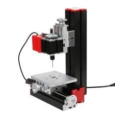 Mini DIY 6 Dalam 1 Serbaguna Mesin Multi Fungsi Bermotor Transformer Jigsaw Grinder Driller Perangkat Keras Plastik Bubut Bubut Kayu pengeboran Pengamplasan Memutar Penggilingan Penggergajian Mesin Alat Perlengkapan Logam Versi-Internasional