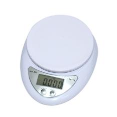 Cara Beli Mini Electronic Kitchen Pan Cheng Scale 5Kg 1G Timbangan White