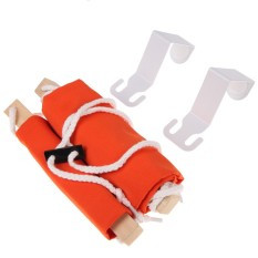 Mini Hammock Tablet Foot Rest / Pijakan Kaki Meja - Orange